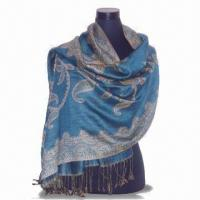 Buy cheap Scarf in Customized Specifications, Made of 30% Silk and 70% Pashmina, Available in Various Colors from wholesalers