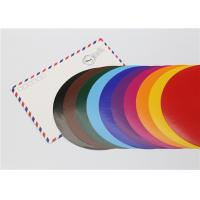 Buy cheap Lick - To - Stick Colored Paper Circles , Glossy Construction Paper Circles from wholesalers