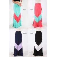 Buy cheap Maxi Style Pastel Colored Chevron Girls Skirts Polyester And Spandex Dresses from wholesalers