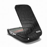 Buy cheap Leather Case for Blackberry 9000, with Convenient Snap Magnet Closure from wholesalers