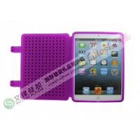 Wholesale Purple Non-slip Export 7.85 inch  Mini iPad Silicone Cases with Blocks Round Dot from china suppliers