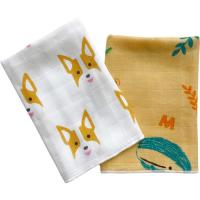 Buy cheap Ultra Absorbent Baby Muslin Bibs 100% Cotton Face Towel Two Layers Gauze Cloth from wholesalers
