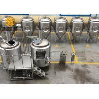 Customized Beer Brewing Equipment , Easy Operate Microbrewery Brewing Equipment