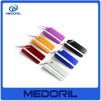 Wholesale Hot Sale Aluminium Metal Travel Luggage Tag with stainless steel wire from china suppliers
