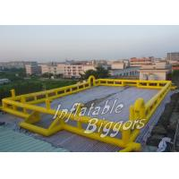 Buy cheap Promotion Yellow Kids Inflatable Sports Games For Football Inflatable Rentals from wholesalers