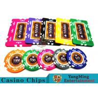 Wholesale 760 Pcs Texas Holdem Style Clay Poker Chips With Real Aluminum Case from china suppliers