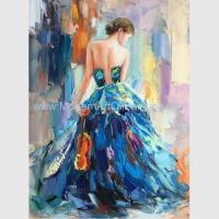 Buy cheap Female Oil Painting by Palettle Knife Colorful Woman abstract Canvas Art from wholesalers