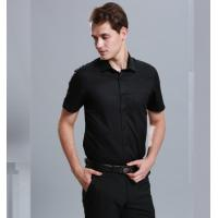 Buy cheap 100% Cotton Casual Work Uniforms , Durable Short Sleeve Black Work Shirt For Men from wholesalers