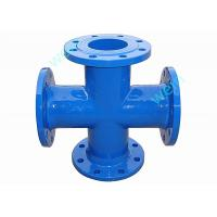 Buy cheap Flanged Cross Ductile Iron Pipe Flanged Fittings DN80 - DN600mm EN545 Standard from wholesalers