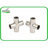 Buy cheap Mirror Polishing Sanitary Pipe Fittings Cross Pipe Fittings For Pharmaceutical Engineering from wholesalers