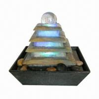 Buy cheap 4 tier polyresin fountain with ball and colorful LED from wholesalers
