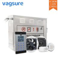 Buy cheap AC 110V/220V Steam Sauna Equipment 304 Stainless Steel Material LCD Display from wholesalers