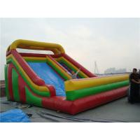Buy cheap Wet / Dry Use Inflatable Slippery Slide , 12m Big Blow Up Water Slides For Rent from wholesalers