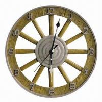 Buy cheap Art Clock, Made of Resin, Customized Requirements, Shapes and Designs are from wholesalers