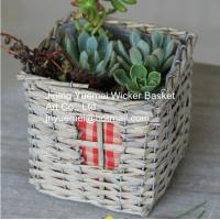 Buy cheap home dicorative wicker garden basket willow flower basket willow plant basket manufacture from wholesalers