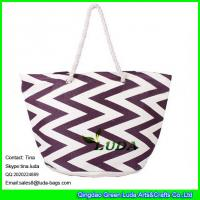 Buy cheap LUDA chevron weave print beach bags large fashion straw lady bags from wholesalers