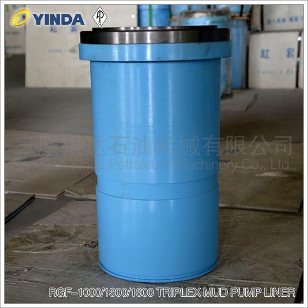 RGF-1000/1300/1600 Triplex Mud Pump Bimetal Liner, API-7K Certified Factory, Chromium 26-28%, HRC than 60