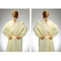 Buy cheap Fluid Resistant Medical Isolation Gowns , Multi Ply Non Woven Surgical Gown from wholesalers