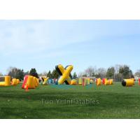 Wholesale Cold Resistant Inflatable Speedball Bunkers Outdoor With 680W Air Pump from china suppliers