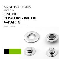 Buy cheap Sliver Eyelet Washer Snap Buttons Exclusive Socket with Metal Ring from wholesalers