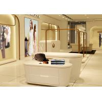Buy cheap Beautiful White Color Retail Clothing Fixtures For Lady Clothing Display from wholesalers