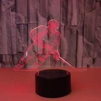 Buy cheap 7 Color Creative Gift Acrylic Manufacturer Wholesale Hockey Night Light Novelty Led 3d Kids Lamp from wholesalers