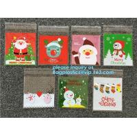 Buy cheap Hot 100pcs/lot Cute Snowflake Snowman Santa Xmas Christmas Gifts Holders Bake Biscuit Cookies Candy Jewelry Packaging Ba from wholesalers