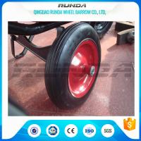 Buy cheap Centered Hub Heavy Duty Pneumatic Wheels 14X4 Ball Bearing For Air Compressor from wholesalers