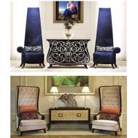 Buy cheap Customized High End Hotel Lobby Furniture Wooden Sofa Chair Modern Console Table from wholesalers