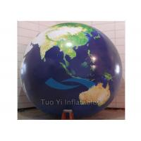 Buy cheap Durable PVC Earth Globe Balloons Inflatable Earth Map Ball with LED Light from wholesalers