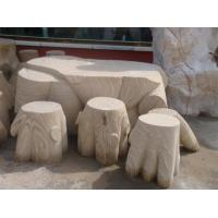 Wholesale Outdoor Garden Natural Stone Bench statue from china suppliers