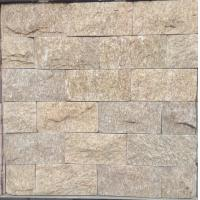 China yellow Natural stone mushroomed stone for exterial wall cladding decoration 20x10cm on sale