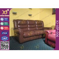 Buy cheap High Density Sponge Seat Back Home Theater Sofa ,Brown  Leather Electric Recliner Chair from wholesalers