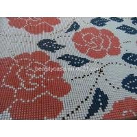 Wholesale Rose Glass Mosaic Medallion 10*10*8mm, Mosaic Pattern from china suppliers