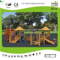 Quality Outdoor Wooden Playground (KQ10156A) for sale