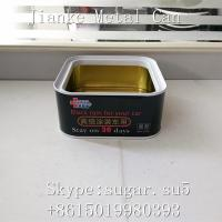 Buy cheap Metal tin cans Diam.45,52,57 ,65,70,73mm 60-250mm height square tin containers from wholesalers