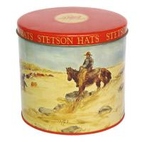 China Stetson Hats Tin Container For Cookie Packaging , Food Grade Metal Box Optional Sizes on sale