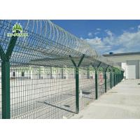 Buy cheap Airport Anti - Aging Welded Mesh Fence , Green PVC Coated Wire Mesh Fencing from wholesalers