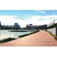 Buy cheap Outdoor Waterproof  composite decking with Natural Wood / corridor flooring from wholesalers