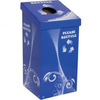 Buy cheap Recycling Cardboard Display Bins Square Shape  CMYK Offseting Printing from wholesalers