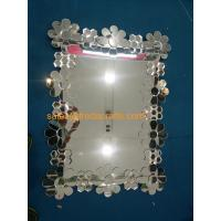 Buy cheap European Style Glass Flower Decorated Rectangle Wall Wall Wholesale from wholesalers