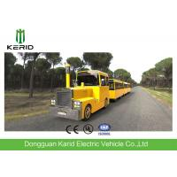 Buy cheap Metal Structure Mini Trackless Train 62 Seats For Amusement Park Diesel Powered from wholesalers