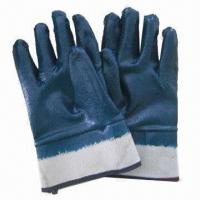Buy cheap Nitrile coated work gloves, chemical- and oil-resistant gloves, safety gloves  from wholesalers