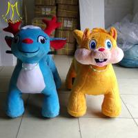 China Hansel  2018 new designs toy coin opearted walking ride on unicorn motorized car plush toy on sale