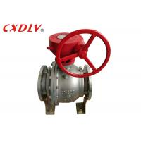 China DN150 6 Inch 2PC Trunnion Ball Valve CF8M Stainless Steel Split Body Price on sale