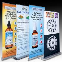 Buy cheap Retractable Banner Stands , advertising aluminum roll up banner stand from wholesalers