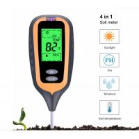 Quality New 4 IN 1 Digital Soil Moisture Meter PH Meter Temperature Sunlight Tester for Garden Farm Lawn Plant with LCD Display for sale
