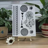 Buy cheap Body Art Temporary Black Tattoo Stickers Flower / Football / Hand Bracelet Designs from wholesalers