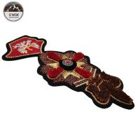 Buy cheap Size Customized 3D Embroidery Patches Toothbrush Material With Sew On /  Iron On Backing from wholesalers