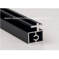 Buy cheap Black Anodized Extruded Aluminium Profiles Channel Irregularity Shape Long Durability from wholesalers